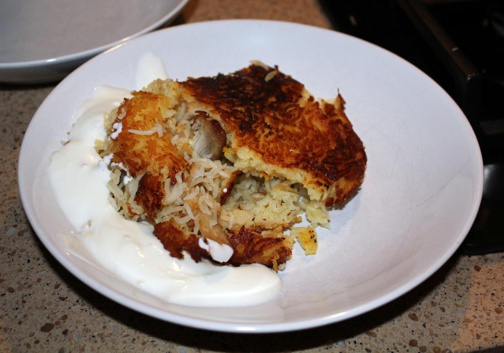 Tachin Served with Garlic Yoghurt