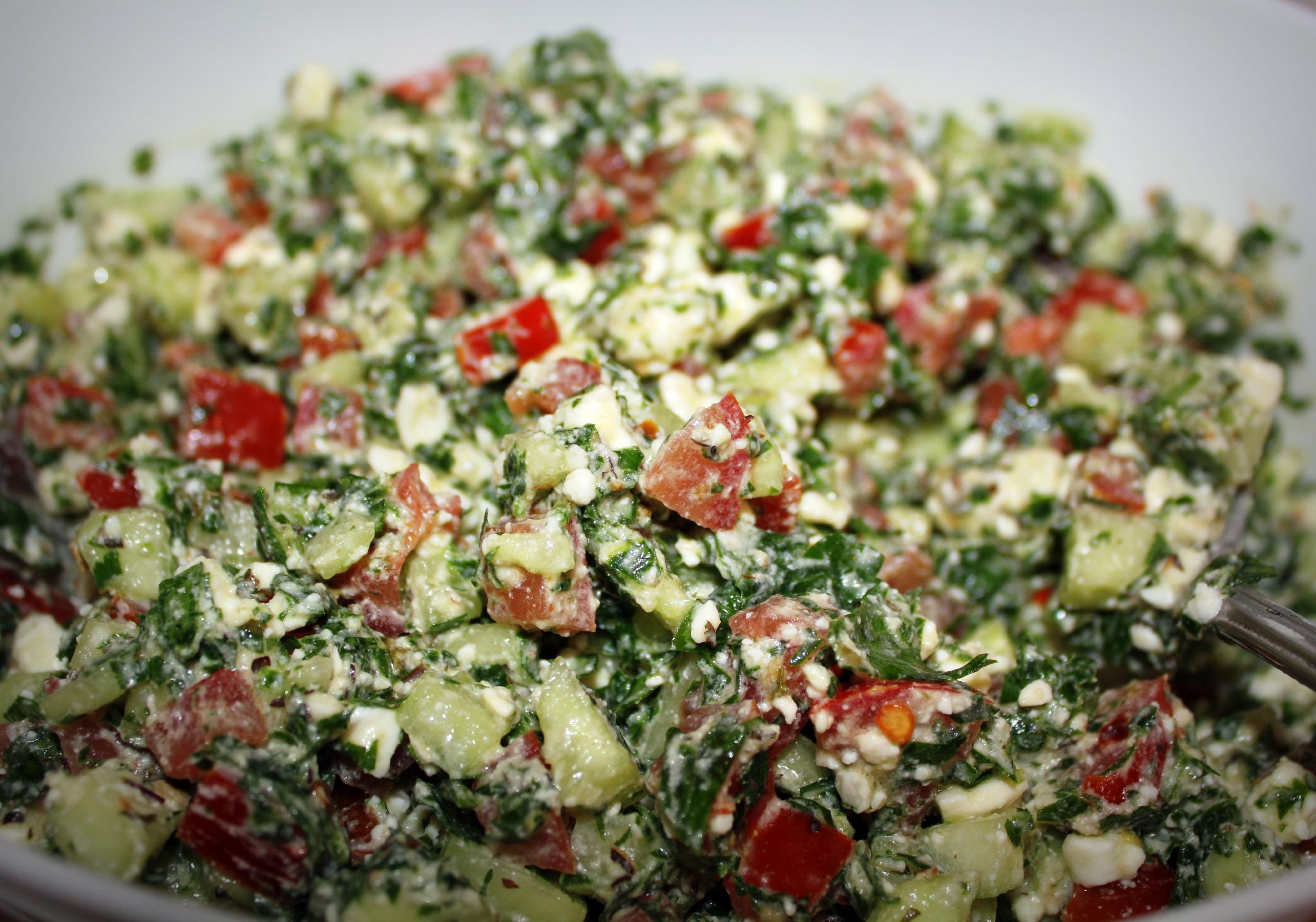 Shankleesh – Lebanese Goat's Cheese Salad   NAZAR BLUE