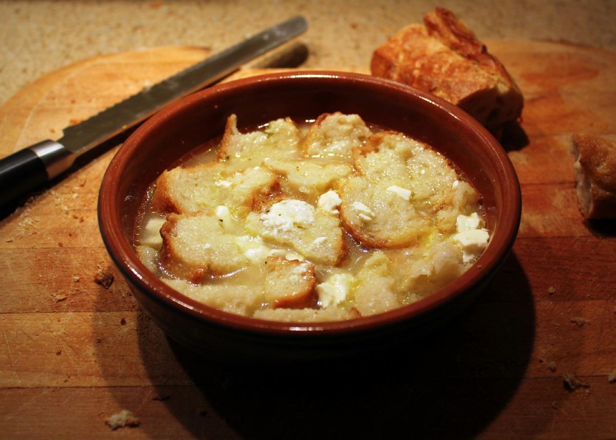 Bread Soup Balkan Style Popara Nazar Blue