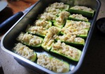 Stuffed Courgettes Pre Oven