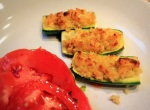 Smoked Feta & Bulgur Stuffed Courgettes